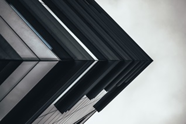 Abstract picture of the corner of a modern building