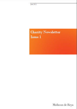 Charity Newsletter - September 2012