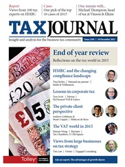 Reflections on the 2015  private client tax landscape