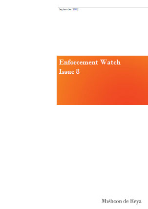 Enforcement Watch - Issue 8: September 2012