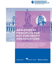 Anti Bribery Principles for Not For Profit Organisations
