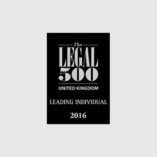 Legal 500 Leading Individual 2016