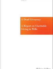 A Dead Giveaway - Research into our Clients' Charitable Giving in their Wills