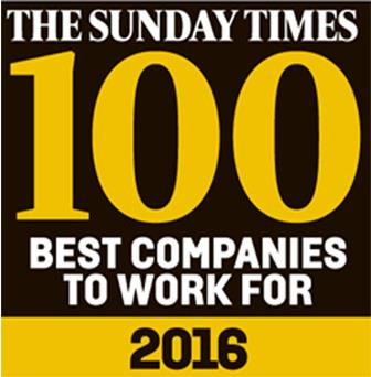 Sunday Times 100 Best Companies 2016