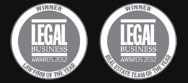 Law Firm and Real Esate Team of the year LBA 2012