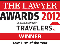 Winner: Law Firm of the Year - The Lawyer Awards 2012