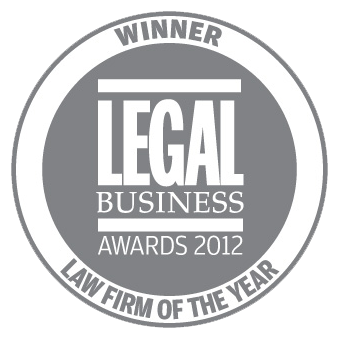 Winner: Law Firm of the Year - Legal Business Awards 2012