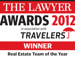 Winner: Real Estate Team of the Year - The Lawyer Awards 2012