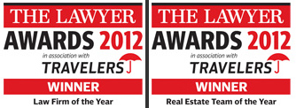Law Firm and Real Esate Team of the year Lawyer Awards 2012