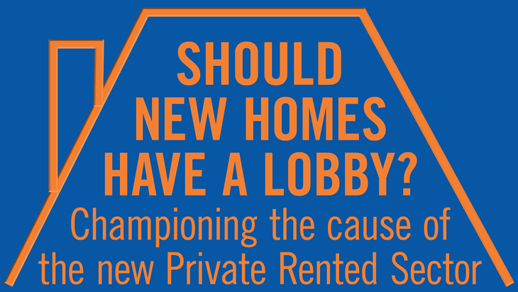Text: Should new homes have a lobby underneath an illustration of a roof