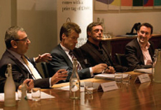 Richard Hyman (Deloitte), Richard Akers (Land Securities), Mike Shearwood (Aurora Fashions), Tim Danaher (Retail Week)